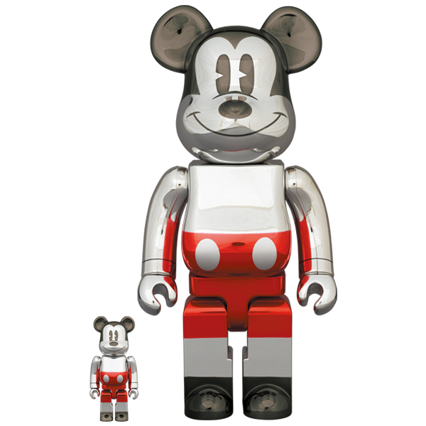 BE@RBRICK FUTURE MICKEY (2nd COLOR Ver.) 100% & 400%