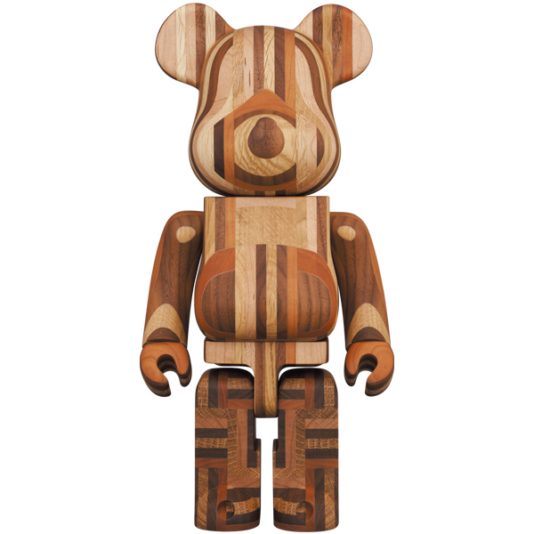 BE@RBRICK カリモク 寄木 400%