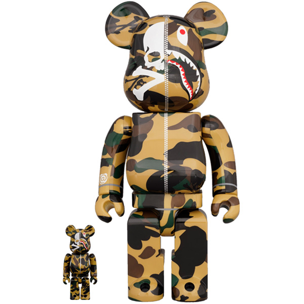 MASTERMIND VS BAPE(R) BE@RBRICK 100% & 400% (YELLOW)