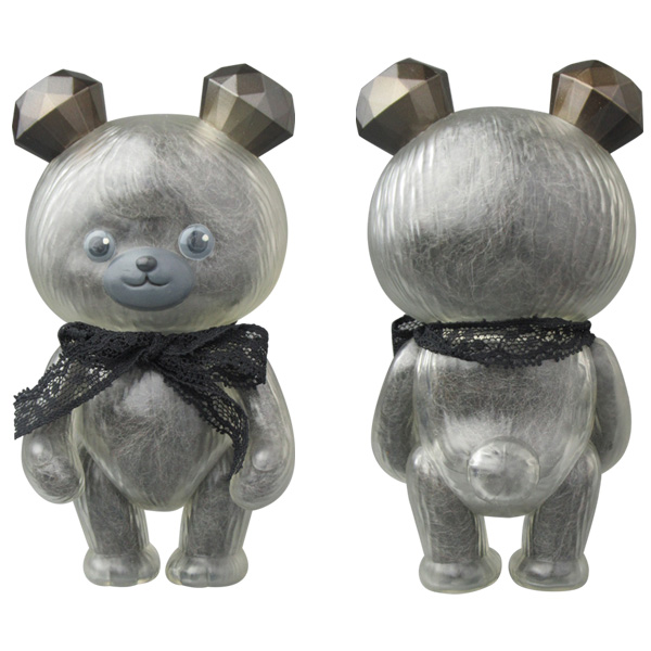 MAMES JEWEL BEAR custom【 Fluffy Black Wadding Crystal Teddy ver. 】
