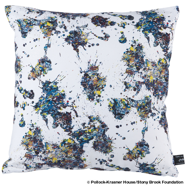 "Jackson Pollock Studio SQUARE CUSHION ""SPLASH"""