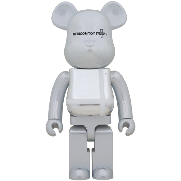 「BE@RBRICK MEDICOM TOY PLUS WHITE CHROME Ver. 1000%」