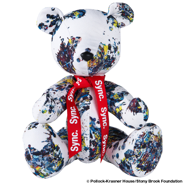 "Jackson Pollock Studio TEDDY BEAR ""SPLASH"""