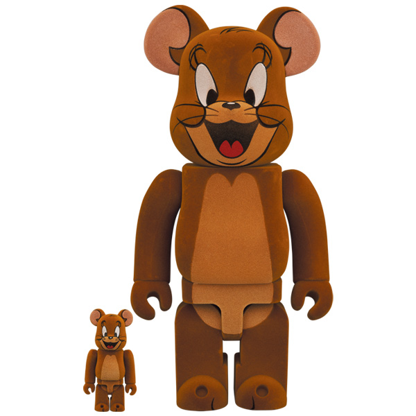BE@RBRICK JERRY フロッキー Ver. 100% & 400%(TOM AND JERRY)