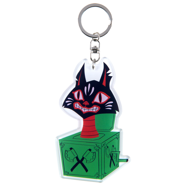 "MLE ASAMI MATSUMURA シリーズ ACRYLIC KEY CHAIN ""Jack In The Box Cat"""