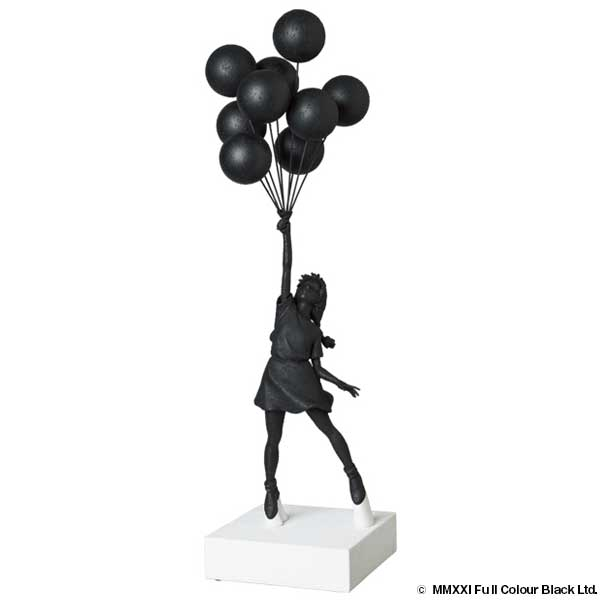Flying Balloons Girl(GESSO BLACK Ver.)