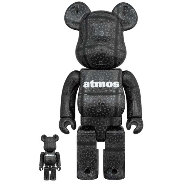 BE@RBRICK atmos BANDANA 100% & 400% BLACK