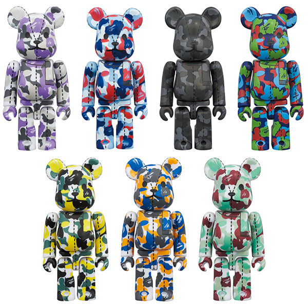 A BATHING APE 28TH ANNIVERSARY BE@RBRICK BAPE CAMO #1