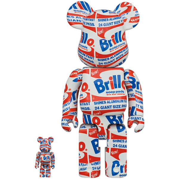 "BE@RBRICK ANDY WARHOL ""Brillo"" 100% & 400%"