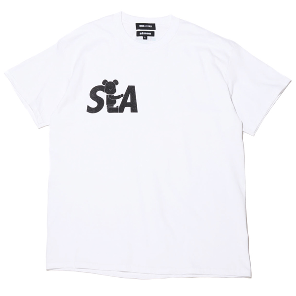 BE@RBRICK x atmos x WIND AND SEA LOGO TEE