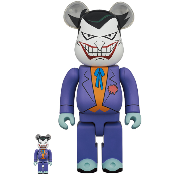 BE@RBRICK JOKER(BATMAN The Animated Series Ver.)100% & 400%