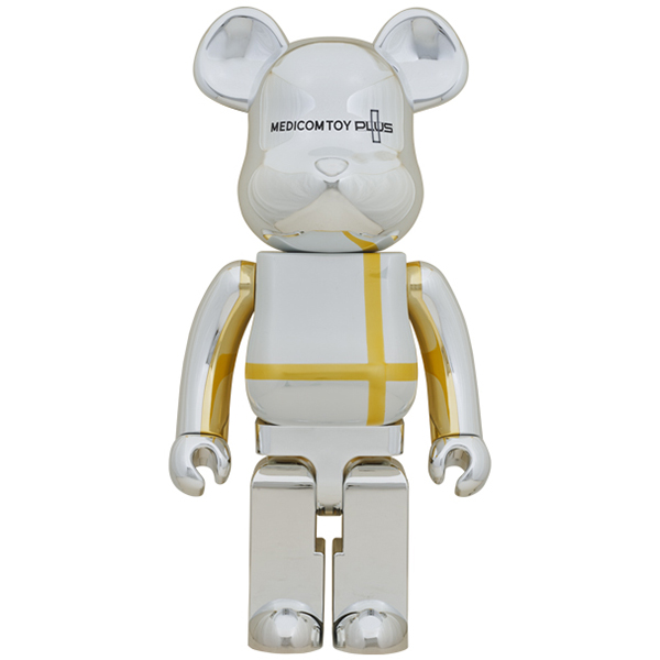 BE@RBRICK MEDICOM TOY PLUS SILVER CHROME Ver. 1000%