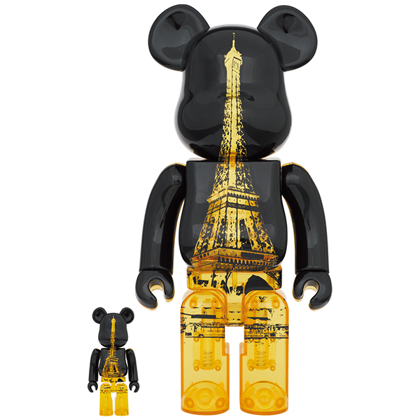 BE@RBRICK EIFFEL TOWER GOLDEN GOWN Ver. 100% & 400%