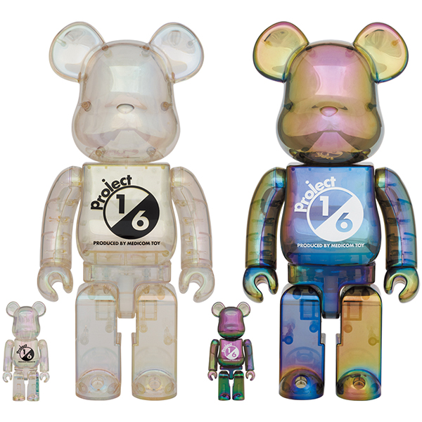 BE@RBRICK project 1/6 100% & 400%   CLEAR CHROME Ver./BLACK CLEAR CHROME Ver.