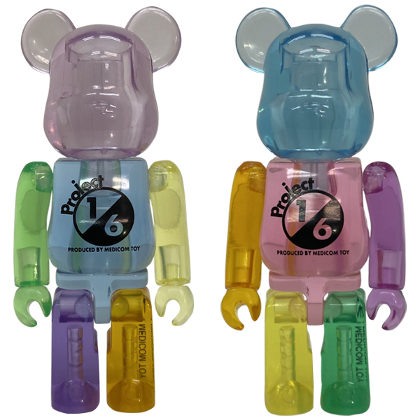 BE@RBRICK MIX CLEAR(Blue ver.)/BE@RBRICK MIX CLEAR(Pink ver.)