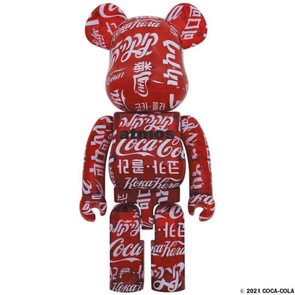 BE@RBRICK atmos × Coca-Cola 1000% CLEAR RED