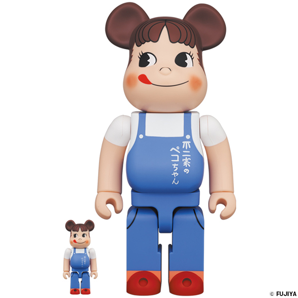 BE@RBRICK ペコちゃん The overalls girl 100% & 400%
