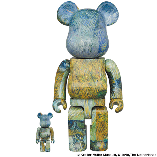 """BE@RBRICK Van Gogh """"Country Road in Provence by Night"""" 100% & 400%"""
