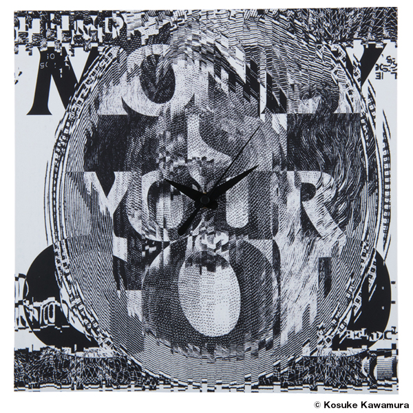 """WALL CLOCK """"MONEY IS YOUR GOD"""" made by KARIMOKU"""